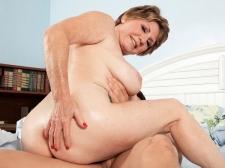 69-year-old Bea fucks 25-year-old Johnny